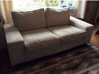 Ikea two 2 seat fabric sofa