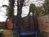 8ft Trampoline with enclosure in excellent condition.