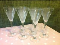 Cocktail/Martini Party Glasses x 6 £9