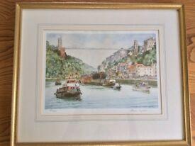Signed, framed and glazed limited edition Frank Shipsides print