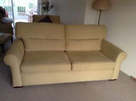 Large 3 seater settee and chair in good condition