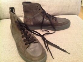 Allsaints Mens Hi Top Sneakers