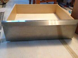 Set of 2 freestanding under kitchen unit storage drawers on wheels - great condition