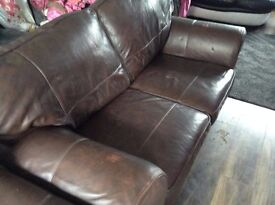 Brown Leather Couch Priced to clear