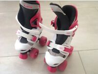 Girls adjustable roller boots