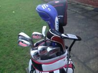 Motocaddy Cart Bag with Clubs