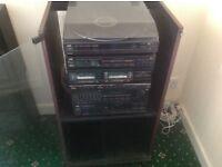 JVC Hi-fi with cabinet