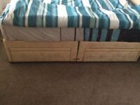 Double bed frame with draws
