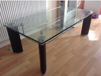 Matching glass coffee tables