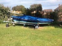 Laser 16 sailing dinghy