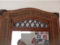 A. BEAUTIFUL VINTAGE WICKER RATTAN DRESSING TABLE , STOOL AND MIRROR,IN PERFECT CONDITION, LOVELY