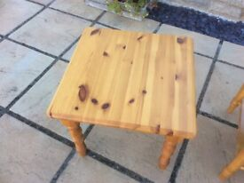 Pine low tables in good condition