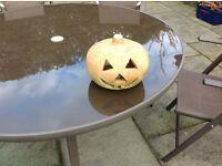 Garden stone pumpkin