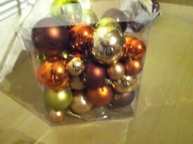 xmas tree baubles as new not too late