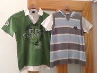 Boys NEXT clothes bundle 9 years / 2 piece set white t-shirt & hooded tank top & collared t-shirt