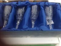 Crystal glass set new in box 6 glasses