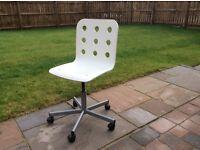 desk chair, white