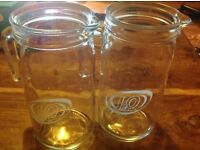 2 Glass J2O Jugs