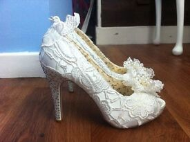 Size 4 Vintage Wedding Shoes