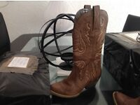 Two pair Cowboy boots 36