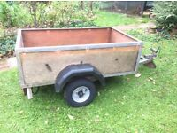 Trailer 5 x 3 foot 17 inch deep, new wheels / tyres, new electrics, steel frame, wood lined.