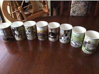 Rare Collection of Border Fine Art Mugs
