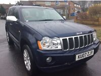 Jeep Grand Cherokee 3.0 v6 overland 4wd automatic leather sat nav fsh 2007