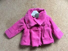 Brand New with Tag 'NEXT' Girls Jacket age 9-12 months