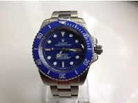 Rolex – submariner – All steel – blue dial