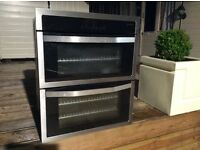 John Lewis Stainless Steel Oven And Grill With Blue/Red LED Display Can Deliver.