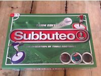 Brand new subbuteo football game with extra set of players