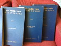 The Times, Atlas of the World, volumes I, II, III, IV, V. Published in the 1950s