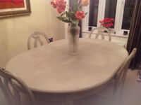 French Dining Room Table and 4 Chairs
