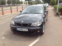 Black BMW 120d 1 series automatic diesel