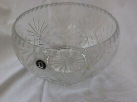 Unused heavy cut glass bowl. Unwanted gift