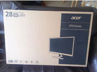 3x BRAND NEW Acer RT280K 28 inch 4K monitor, stock clearance