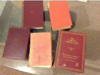 Bundle of Old Books around 1950's