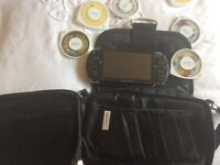 Psp with games and movie