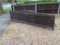 Wide wooden garden gate