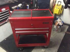 2 DRAWER TROLLEY TOOL BOX WITH EXTRA STORAGE SPACE