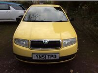SKODA FABIA CLASSIC 1.9 SDI DIESEL HATCHBACK YELLOW COLOUR WITH 12 MONTHS MOT