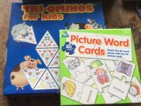 Tri-ominos for kids and Picture Word Cards