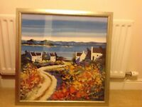 Framed Kirfily large sea view print