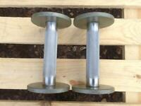 4 x 2kg EXF Cast Iron Dumbbells (2 Pairs Available) (£8 per pair) (Delivery Available)