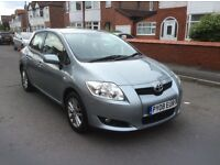 2008 Toyota AURIS 1.4 TR 5dr hatchback petrol manual 1 owner low mileage full history £2450