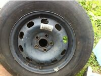 VW Golf wheel with good tyre
