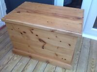 Pine Toy / Storage Box - waxed finish