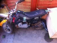 50 cc rev and go pike bike plus rolling chassis