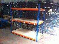JOB LOT 10 bays RAPID 1 industrial longspan shelving 7ft high ( storage , pallet racking )