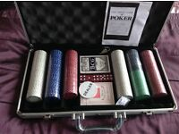 New 300 piece Poker Set with case